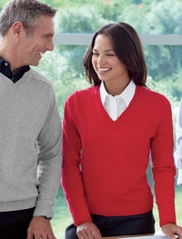 Ladies Dressy V-Neck Cotton Sweater