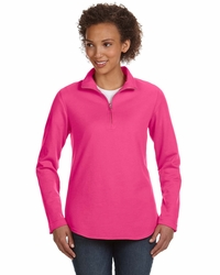 Ladies Quarter-Zip Pullover with Covered Zipper