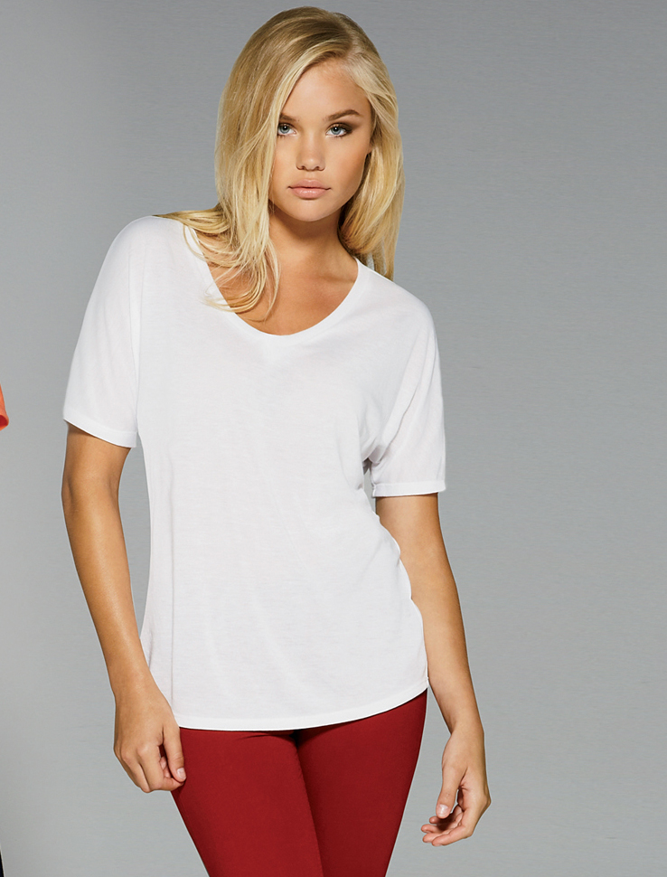 Ladies relaxed fit scoop neck t shirt for Relaxed fit t shirt