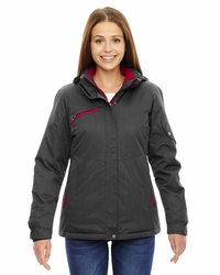Ladies Rivet Textured Twill Insulated Ski Jacket