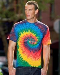 Men's 100% Cotton Tie-Dyed T-Shirt