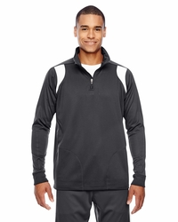 Men's 100% Polyester Sport Quarter-Zip Jacket
