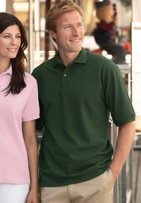 Men's 100% Preshrunk Ringspun Cotton Pique Golf Shirt