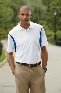 Men's Golf Back Blocked Micro Pique Polo with Moisture Wicking