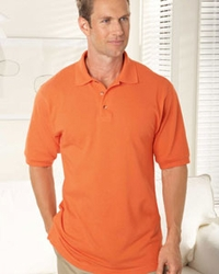 Men's Cotton Horn-Style Buttons Pique Golf Shirt