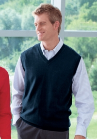 Men's Dressy Cotton V Neck Sweater Vest