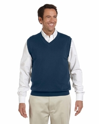 Men'sDressy Cotton V Neck Sweater Vest