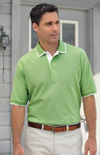 Men's Egyptian Diamond Cotton Pique Golf Polo