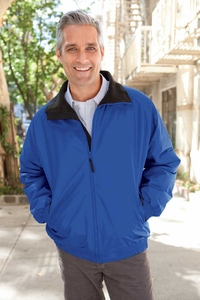 Men's Fleece Lined Wind and Water Resistant Nylon Jacket
