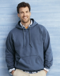 Men's Hooded Fleece Pullover with Pouch Pocket