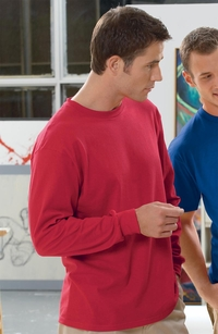 Men's Long-Sleeve 100% Heavy Cotton T-Shirt