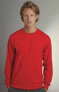Men's Long Sleeve 50/50 Cotton - Poly T-Shirt