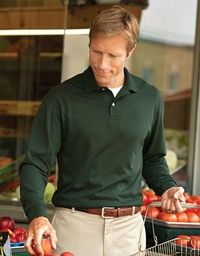 Men's Long Sleeve Jersey Polo with SpotShield