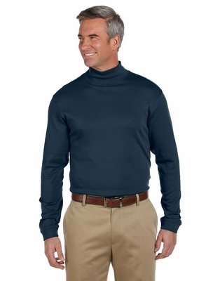 Men's Long Sleeve Pima Cotton Mock Neck Shirt