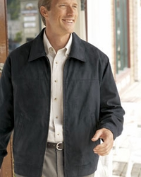 Men S Microsuede Full Zip Er Jacket Item