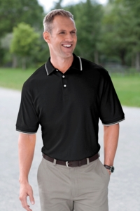 Men's Peruvian Pima Cotton Tipped Golf Polo