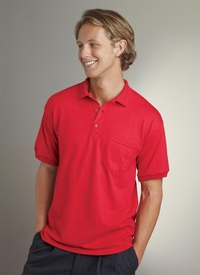Men's Polo Jersey Cotton/Poly Shirt with Pocket