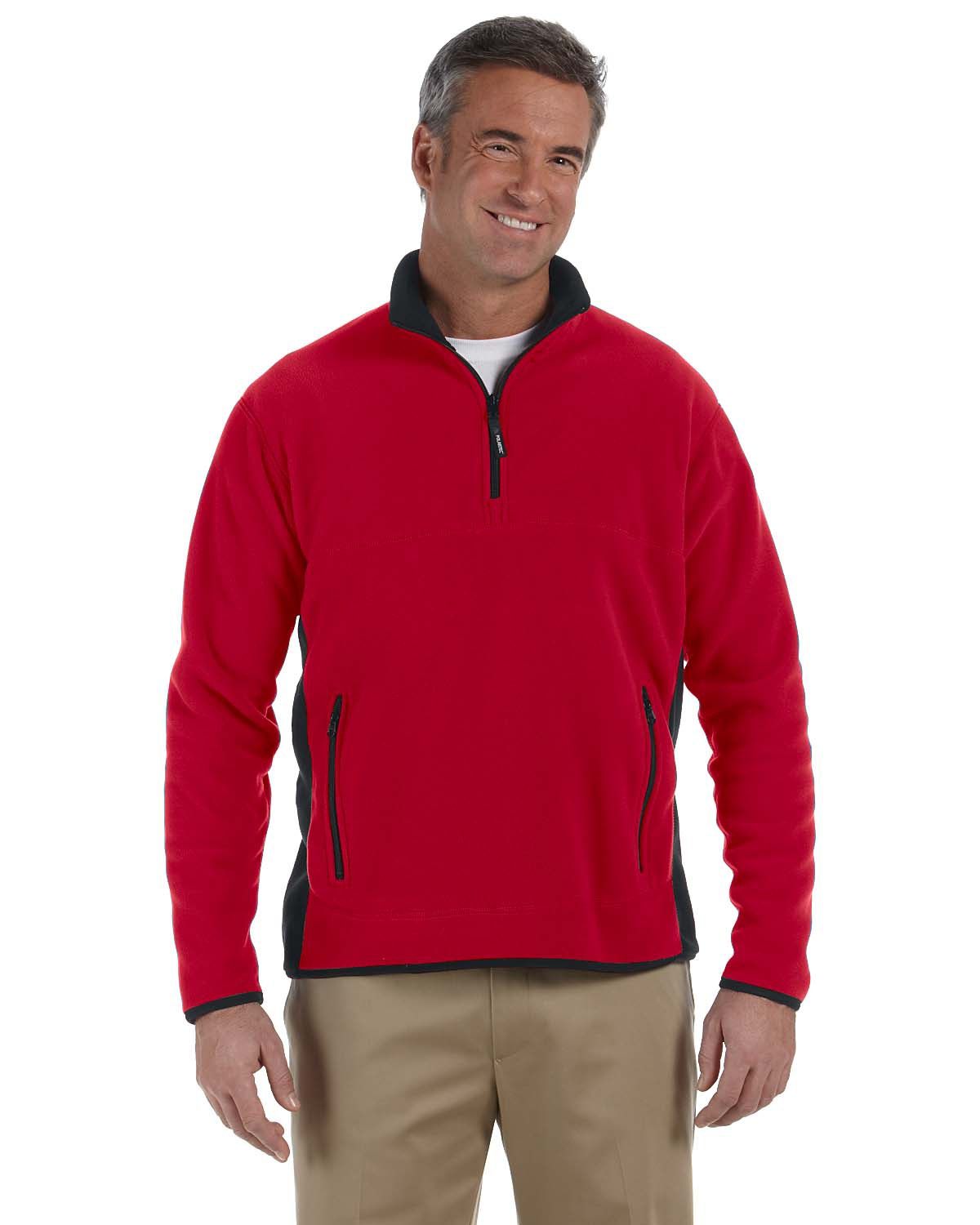 Men's Quarter Zip Pullover Fleece with Pockets