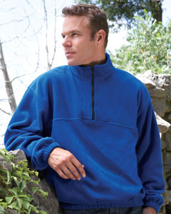 Men's Quarter-Zip Pullover Fleece Jacket