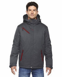 Men's Rivet Textured Twill Insulated Ski Jacket