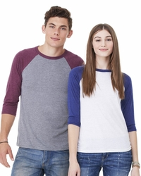 Men's / Women's Triblend 3/4-Sleeve Baseball Shirt