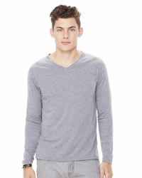 Men's Triblend Long-Sleeve V-Neck T-Shirt
