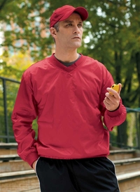 Men's V-neck 100% Nylon Pullover Windshirt   (Item M720-DA)