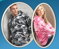 Men's/ Women's Camouflage Fleece Hooded Pullover