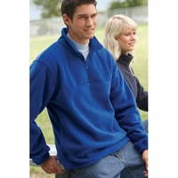 Men's/  Women's Quarter Zip Midweight Fleece Pullover
