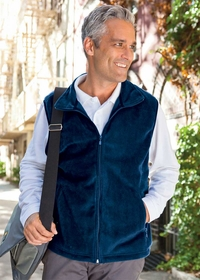Men's Zippered Fleece Vest