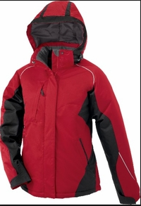 Women's Color-Block Insulated Hooded Ski Jacket