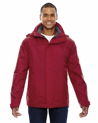 Men's 100% Polyester Taffeta 3 in 1 Jacket with Storm Flap