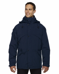 Men's 3-in-1 Ski Parka with Fleece Trim on Collar