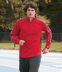 Russell Athletic Mens Fleece Quarter-Zip Cadet Jacket