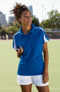 Women's Athletic 100% polyester Three-Button Placket Polo