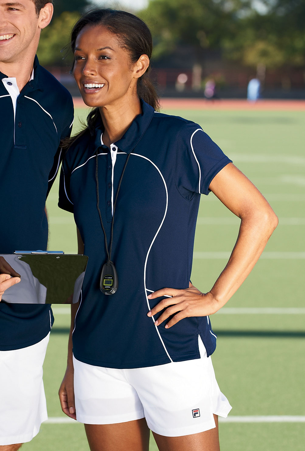 Women 39 s 100 polyester moisture wicking piping golf shirt for Moisture wicking golf shirts