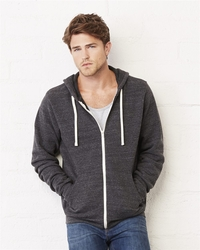 Unisex Lightweight  Triblend Full-Zip Fleece Hoodie
