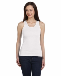 Bella Women's 100% Cotton 2x1 Rib Tank Top