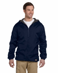 Dickies Men's Fleece Lined Hooded Nylon Jacket