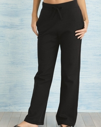 Gildan Ladies Open-Bottom Sweatpants with Pockets