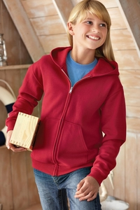 Jerzees Girls / Boys Fleece Hooded Jacket