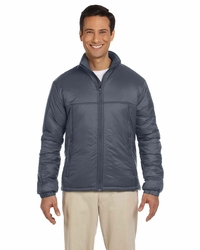 Men's100% Nylon Polyfill Jacket with Inside Storm Flap