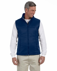 Men's100% Nylon Polyfill Vest with Inside Storm Flap