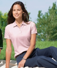 Women's 100% Peruvian Pima Pique Tipped  Polo