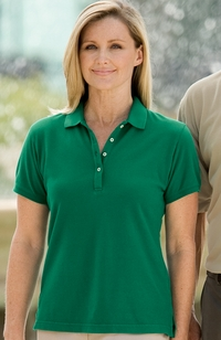 Women's 100% Ringspun Cotton Pique Polo Shirt