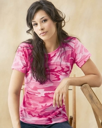 Women's Camouflage Cotton T Shirt