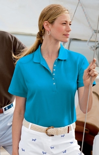 Women's Egyptian Diamond Knit Pique Golf Shirt