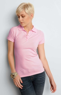 Women's  Four-Button Placket Mini Pique Polo