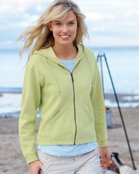 Women's Garment-Dyed Full-Zip Hooded Fleece