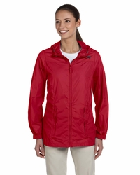 Women's Hooded Rain Jacket with Pack-Away Pouch